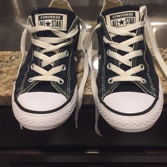 58e37517516 Converse Other - Girls Black Converse Size 3 EUC